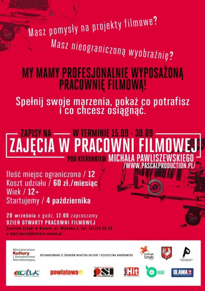 Centrum Sztuki w Oławie, Zapisz Pracowni Filmowej Centrum Sztuki - zdjęcie, fotografia