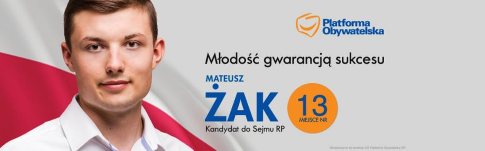 """Partie polityczne, """"Młodość gwarancją sukcesu"""" wywiad Mateuszem Żakiem - zdjęcie, fotografia"""