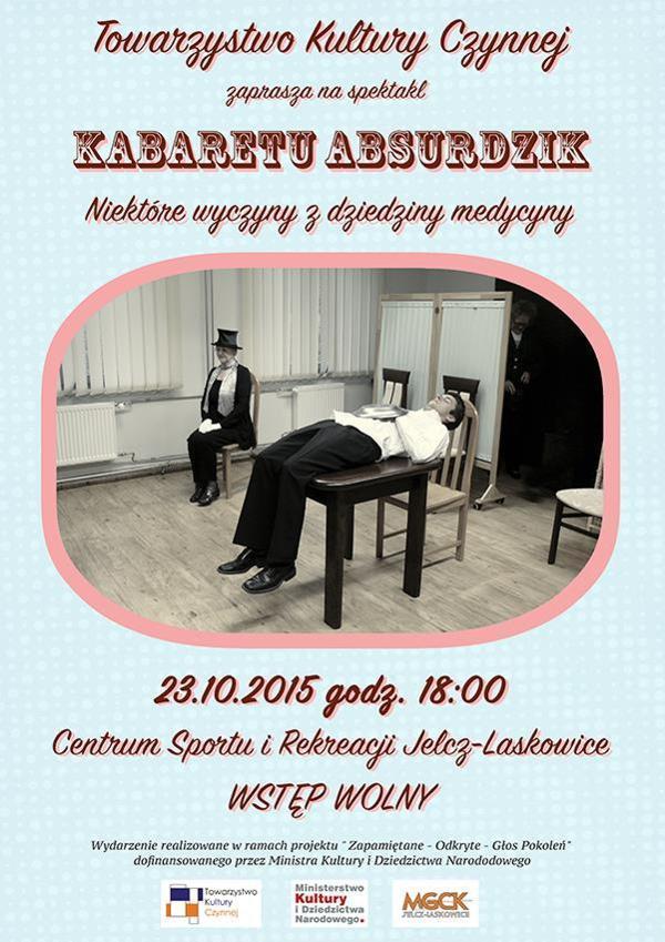 Kabarety, Kabaret Absurdzik Jelczu Laskowicach - zdjęcie, fotografia