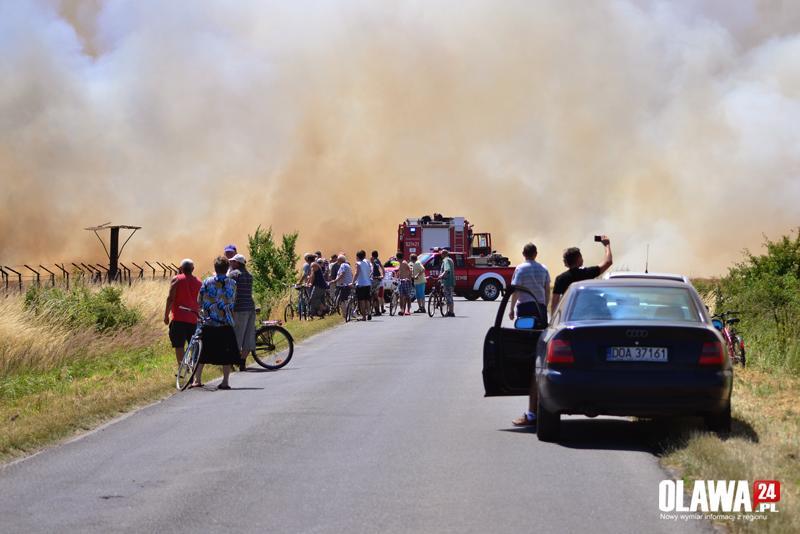 Pożary, Ogromny pożar zbożem [DRON] - zdjęcie, fotografia