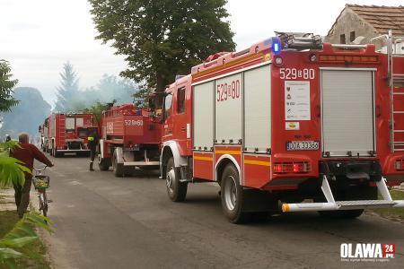 Pożary, Spłonęła stodoła Pożar gasiło pięć zastępów - zdjęcie, fotografia