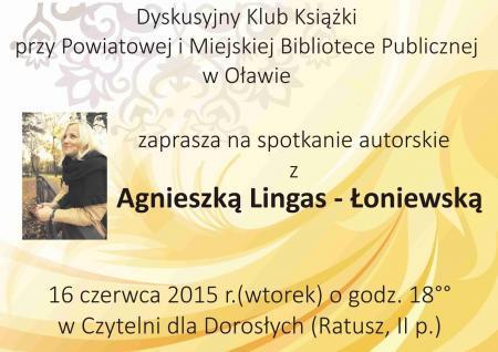 Wernisaże spotkania, Spotkanie Agnieszką Lingas Łaniewską - zdjęcie, fotografia