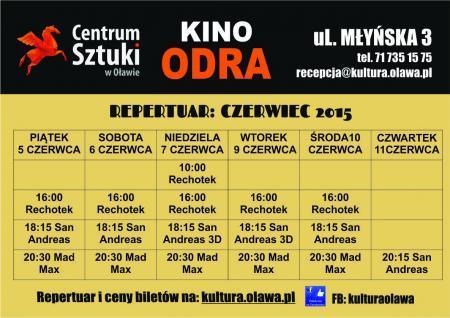 Kino ODRA, Repertuar miesiącu czerwcu - zdjęcie, fotografia
