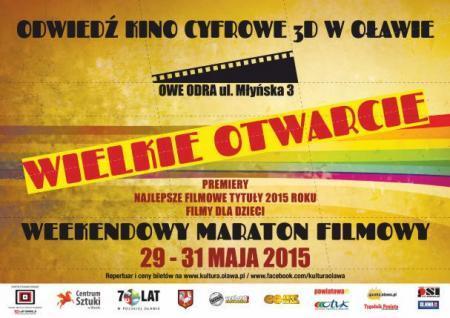Kino ODRA, Dziś wielkie otwarcie! - zdjęcie, fotografia