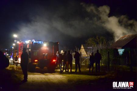 Kronika policyjna, Hirszfelda spłonęła altanka - zdjęcie, fotografia