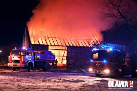 Pożary, Spłonęła stodoła Bystrzycy strażaków walczyło pożarem [VIDEO] - zdjęcie, fotografia