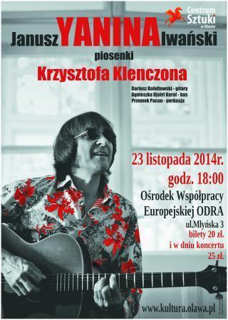Koncerty, Janusz Yanina Iwański zaśpiewa największe przeboje Krzysztofa Klenczona - zdjęcie, fotografia