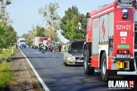 Wypadki drogowe, Groźny wypadek Marcinkowicach - zdjęcie, fotografia