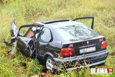 Wypadki drogowe, Groźny wypadek Jelczu Laskowicach - zdjęcie, fotografia