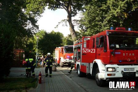 Pożary, Pożar Patio zapalił pochłaniacz - zdjęcie, fotografia