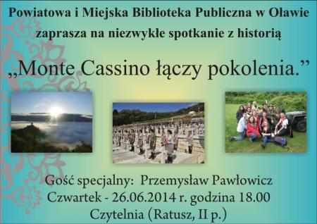 """Wernisaże spotkania, """"Monte Cassino łączy pokolenia"""" - zdjęcie, fotografia"""