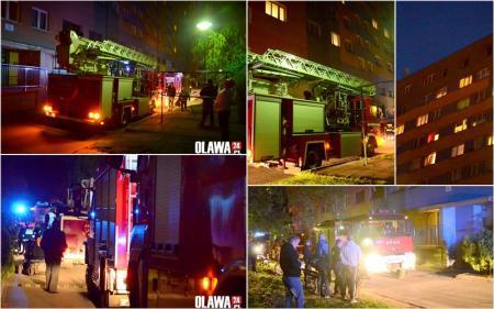 Pożary, Pięć wozów straży pożarnej - zdjęcie, fotografia