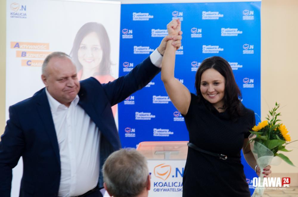Wybory samorządowe, Magdalena Ziółkowska kandydatką burmistrza Oławy - zdjęcie, fotografia