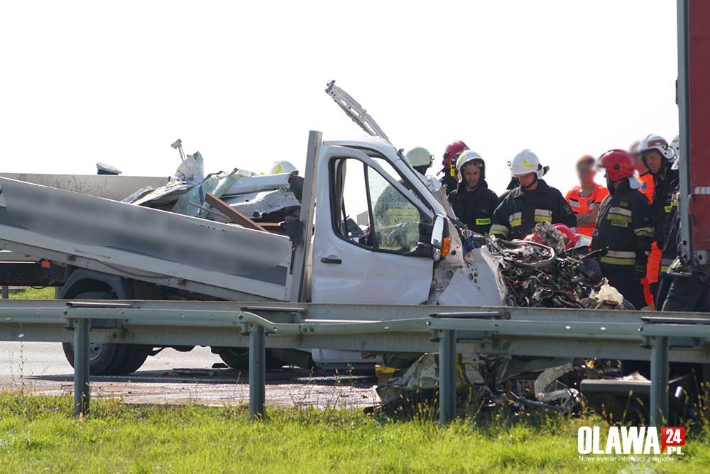 Wypadki drogowe, Uderzył naczepę poniósł śmierć miejscu - zdjęcie, fotografia