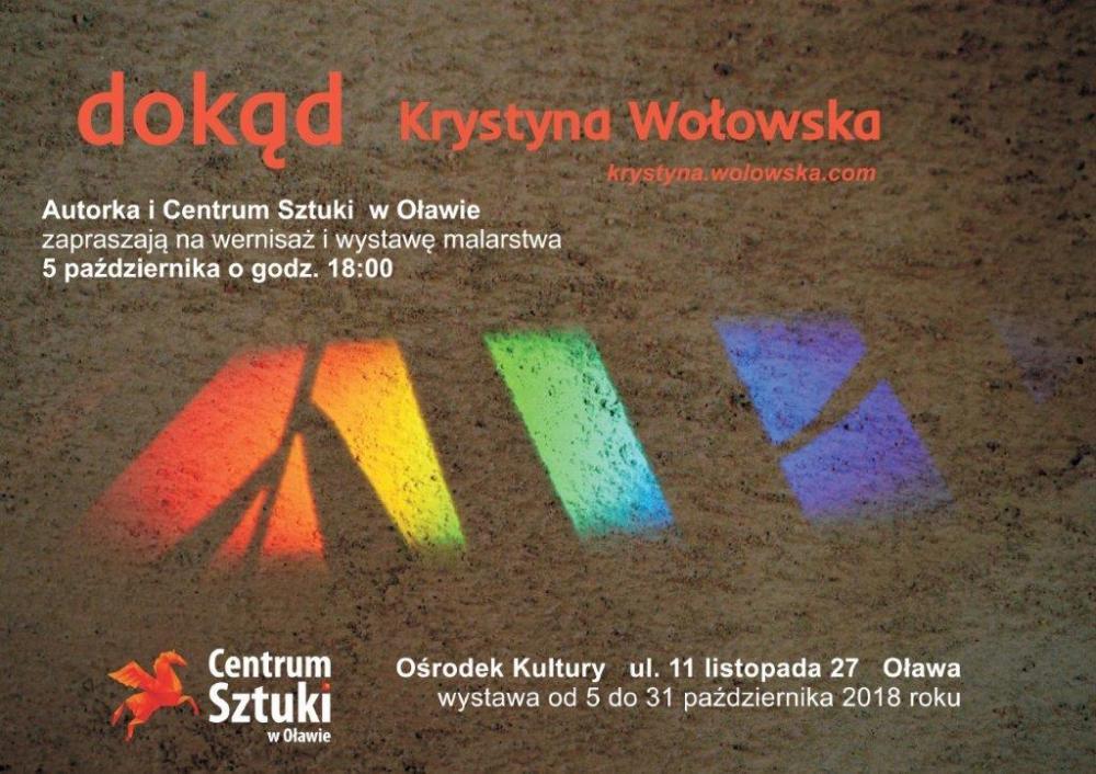 Wernisaże spotkania, Wystawa malarskich Krystyny Wołowskiej - zdjęcie, fotografia