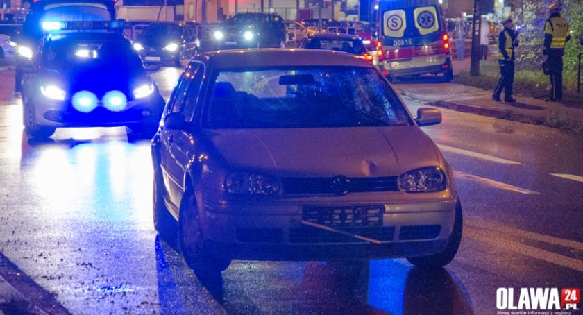 Wypadki drogowe, Potrącenie Wiejskiej - zdjęcie, fotografia
