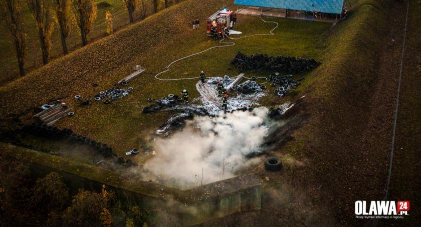 Pożary, Pożar miejskiej strzelnicy - zdjęcie, fotografia