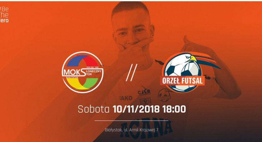 Futsal, Orła czeka trudny wyjazd Białegostoku Walczy utrzymanie podium - zdjęcie, fotografia