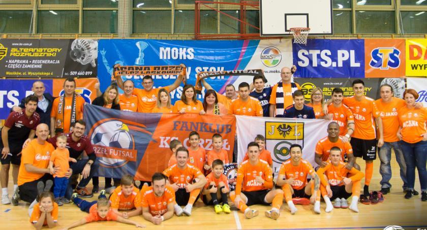 Futsal, Orzeł dominuje rywala Białymstoku umacnia czołówce Futsal Ekstraklasy - zdjęcie, fotografia