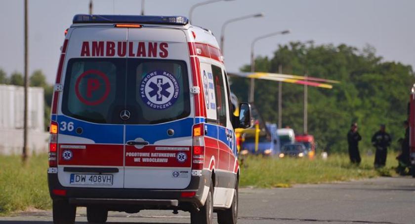 Wypadki drogowe, Potrąciła pieszą - zdjęcie, fotografia