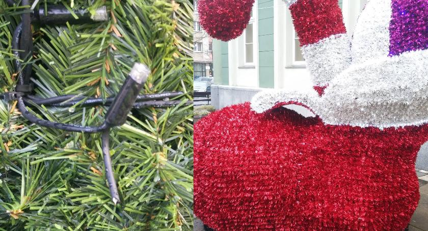Mieszkańcy, pasowało Wandale zniszczyli świąteczne ozdoby - zdjęcie, fotografia