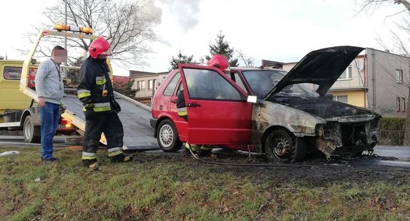 Pożary, Samochód spłonął kilka minut - zdjęcie, fotografia