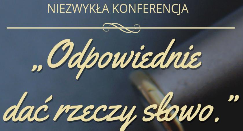 Edukacja, Niezwykła konferencja profesor Miodek - zdjęcie, fotografia