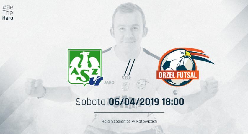 Futsal, Orzeł kończy sezon zasadniczy Katowicach - zdjęcie, fotografia