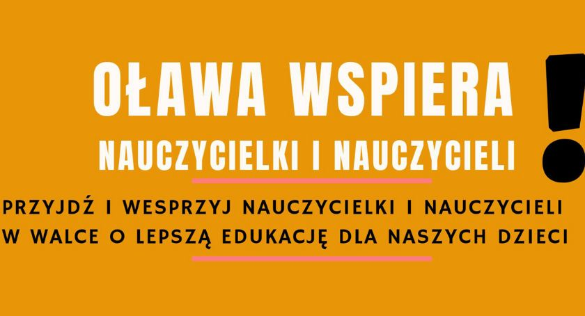 Edukacja, Oława wspiera nauczycieli Rodzice chcą okazać wsparcie - zdjęcie, fotografia