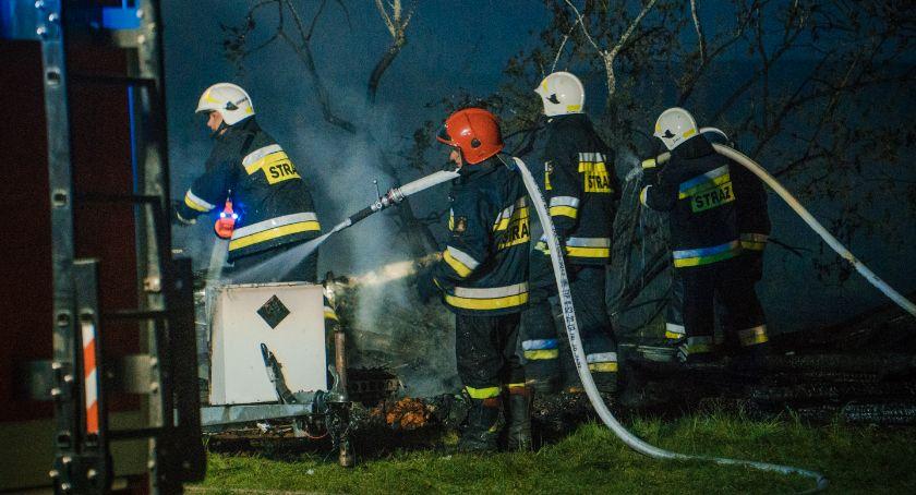 Pożary, Duży pożar Miłocicach - zdjęcie, fotografia