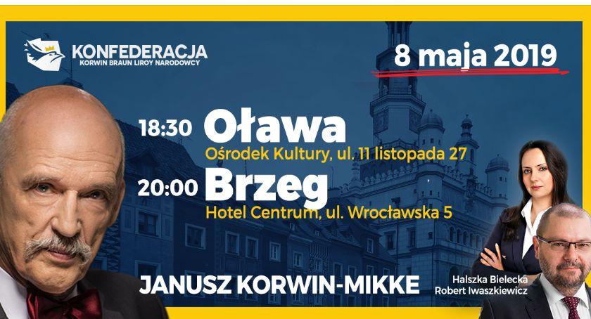 Partie polityczne, Janusz Korwin Mikke przyjedzie Oławy - zdjęcie, fotografia