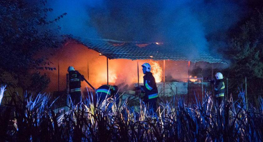 Pożary, Duży pożar Bystrzycy - zdjęcie, fotografia