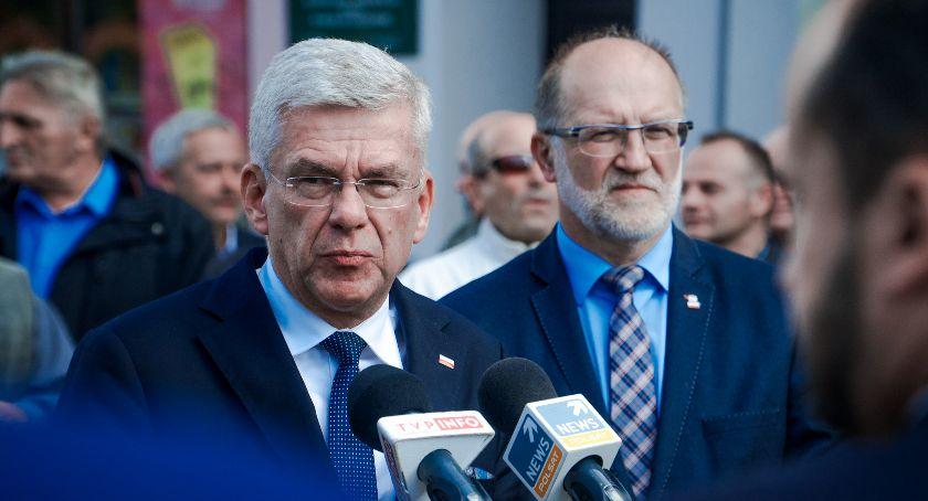 Partie polityczne, Marszałek Senatu odwiedził Oławę - zdjęcie, fotografia