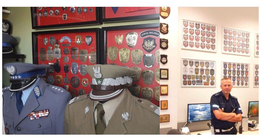 Kronika policyjna, Kolekcjonuje rzeczy policyjnych mundurów - zdjęcie, fotografia