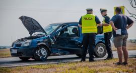 Wypadek w Jankowicach. Wyprzedzał na skrzyżowaniu