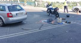Wypadek motocyklisty na moście na Odrze