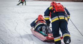 Ćwiczyli jak ratować na lodzie