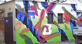 Nowy mural w Oławie. Przeraża czy zdobi?
