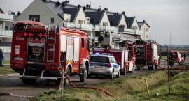 Pożar poddasza domu na osiedlu Nowy Otok
