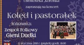 Zespół Folkowy wykona koncert kolęd i pastorałek