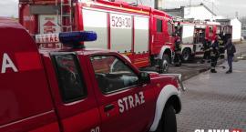 Spłonęło auto podczas rozbiórki
