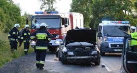 Pościg, rozbite Audi i pijany kierowca