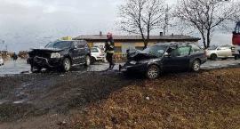 Wypadek w Marcinkowicach. Ruch odbywa się wahadłowo