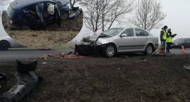 Groźnie na wyjeździe z Oławy. Kierowca zasnął za kierownicą