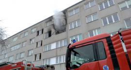 Pożar mieszkania na Chrobrego [VIDEO]
