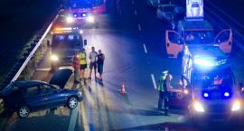Groźnie na A4, zderzyły się trzy auta