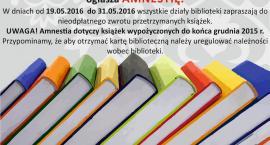 Biblioteka ogłasza amnestię