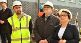 Minister z wizytą na budowie szkoły specjalnej