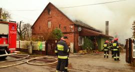 Pożar w Dziuplinie: Spłonął dom [VIDEO]