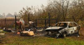 Wójcice: Spłoneły dwa samochody i altanka